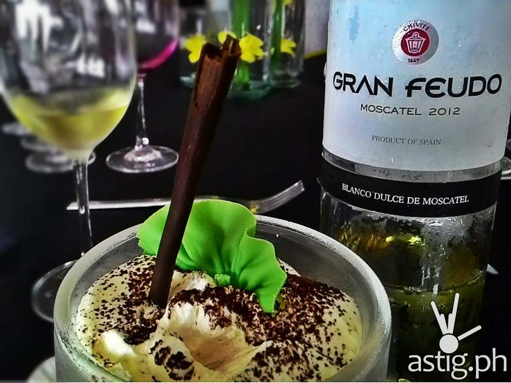 Dessert: Espresso Parfait paired with a sweet and fruity white wine