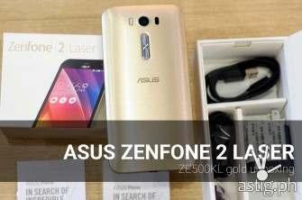 ASUS Zenfone 2 Laser ZE500KL (gold) unboxing