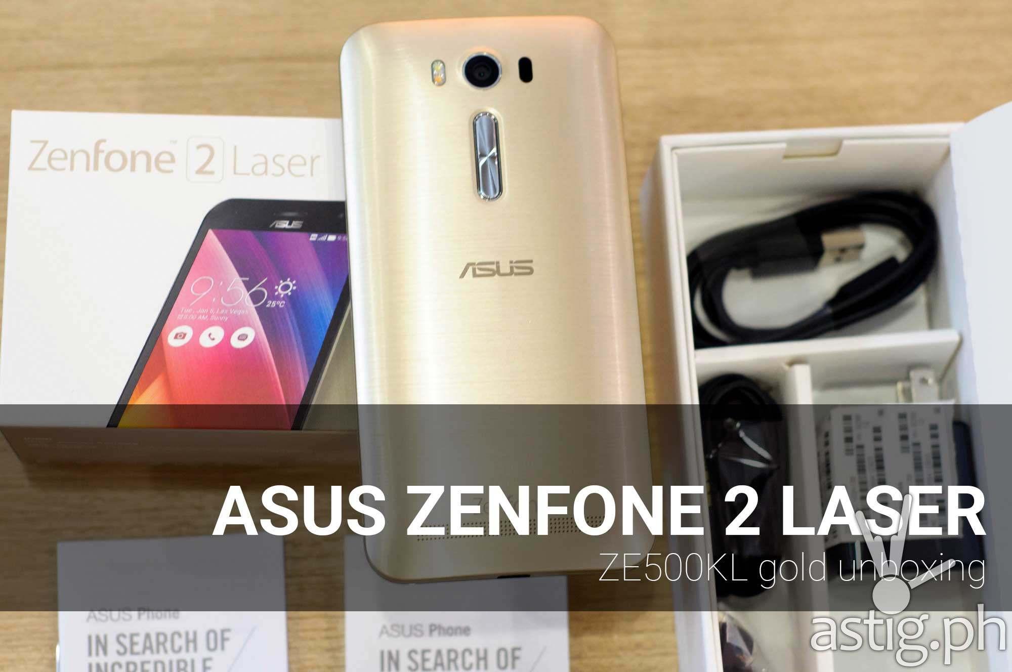ASUS Zenfone 2 Laser unboxing