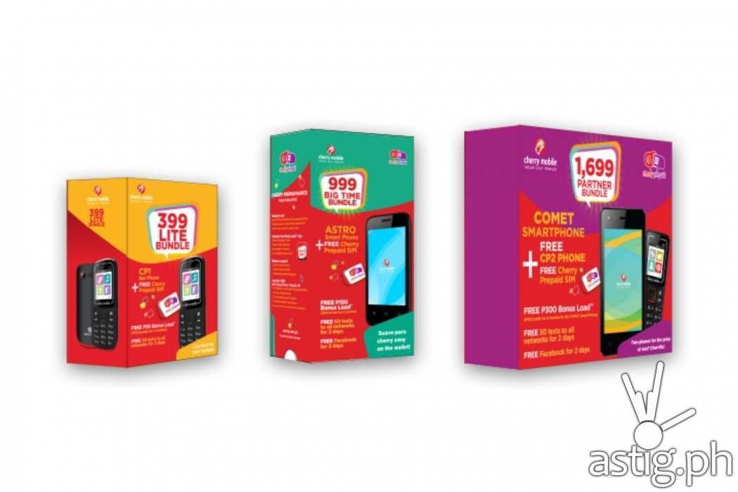 Cherry Prepaid Phone Bundles come with pre-loaded Cherry Prepaid SIM