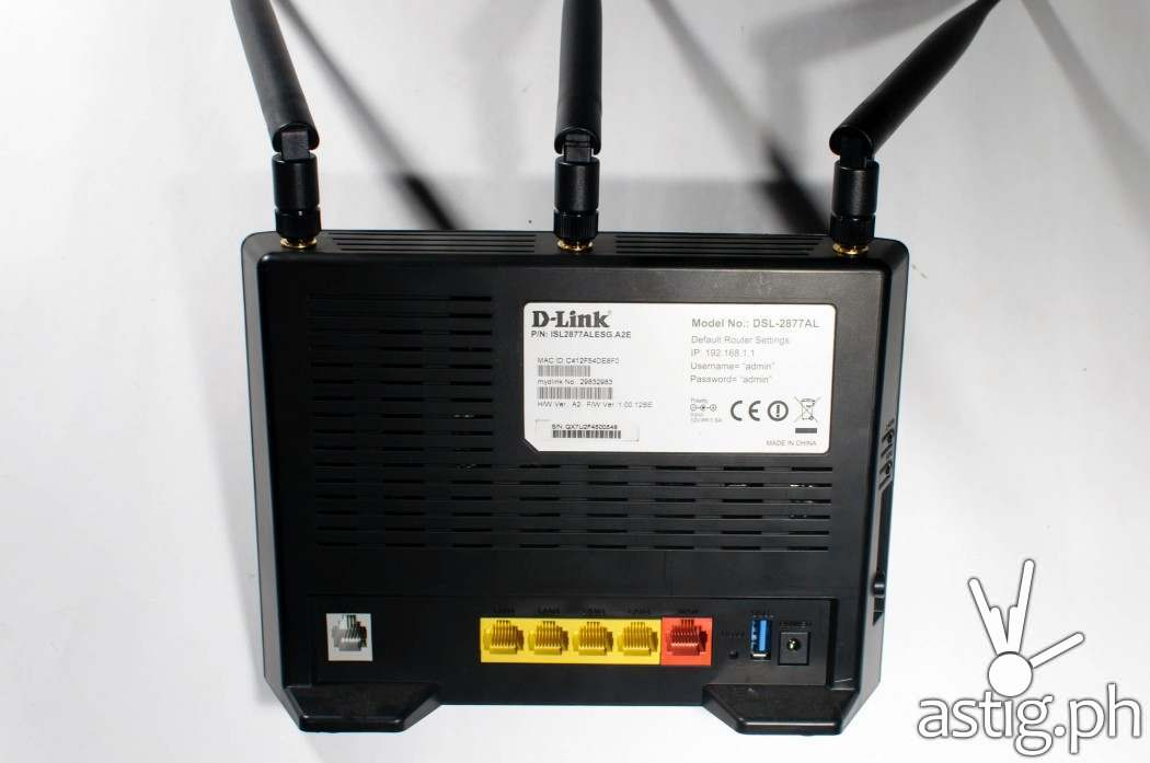You can plug the D-Link DSL-2877AL directly into your DSL phone line