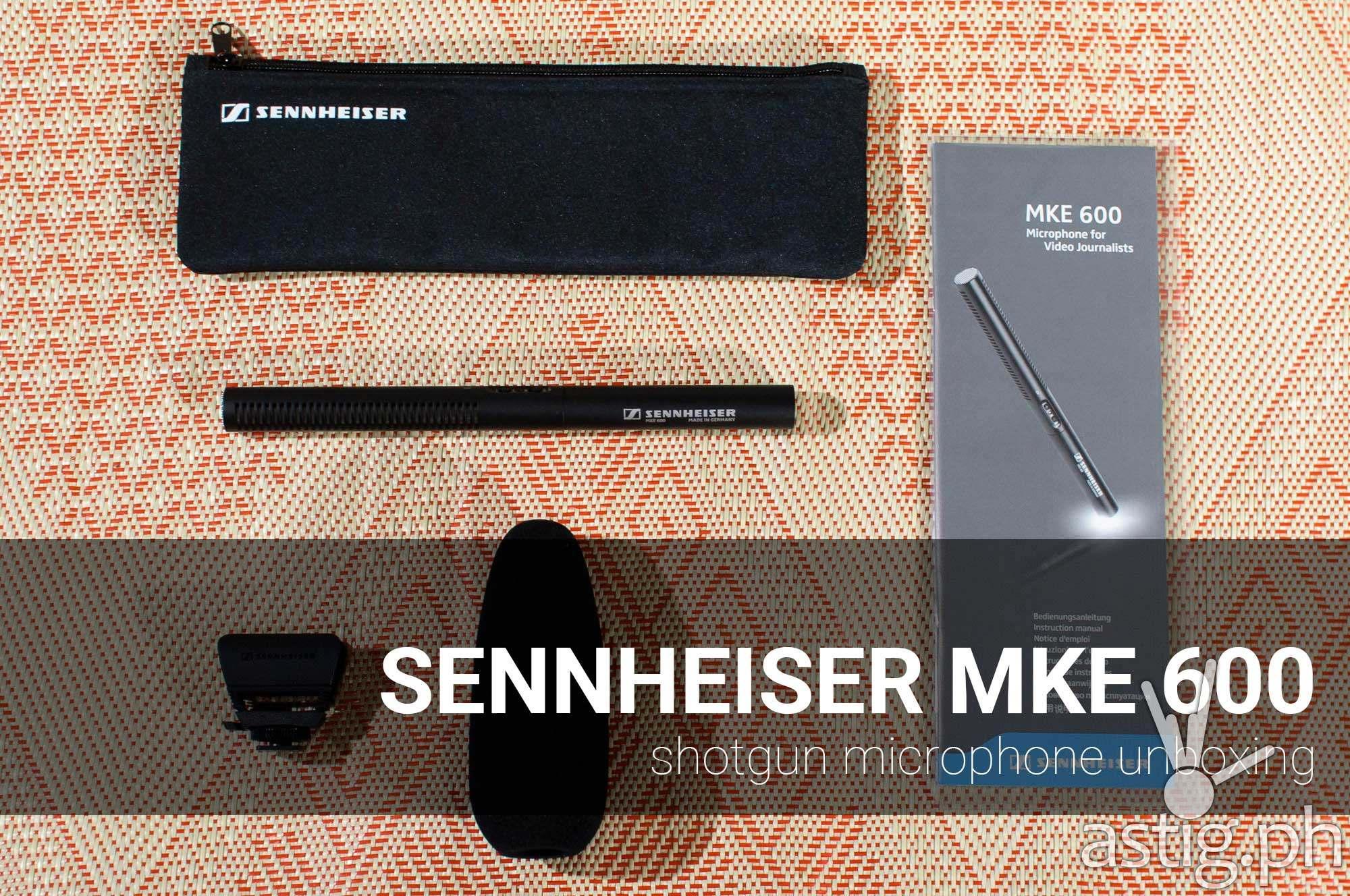 Sennheiser MKE 600 shotgun microphone unboxing