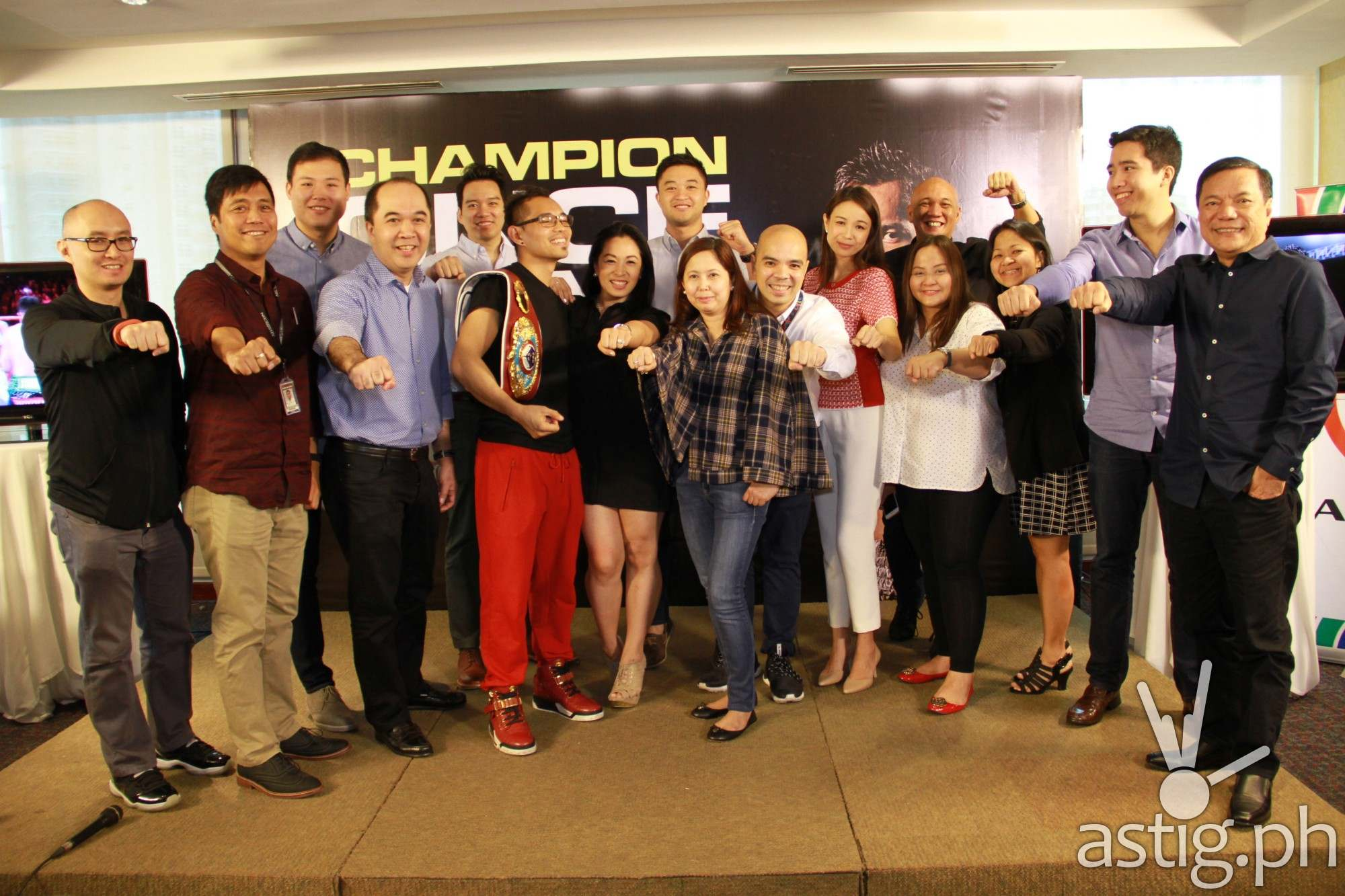ABS-CBN Sports threw a welcome party for Nonito Donaire
