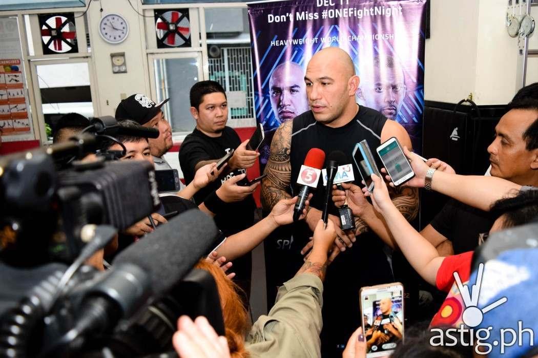 Brandon Vera talks to the media at KMA Gym