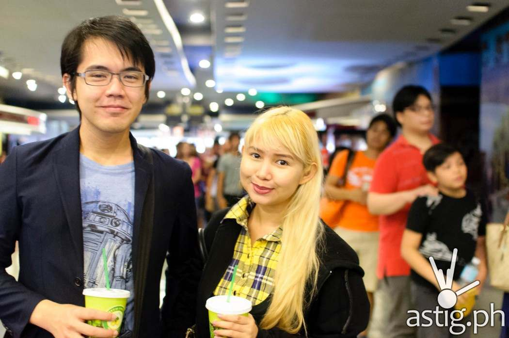 Blogger Hana Abello of dollhana.com and Kyle Francisco of mikaelwrites.com at the Star Wars: Force Awakens premiere