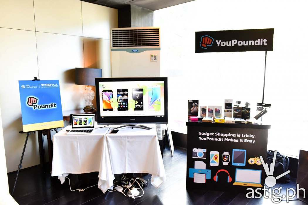 Sample products that customers can buy from YouPoundIt.com at Globe myBusiness' DigiMall