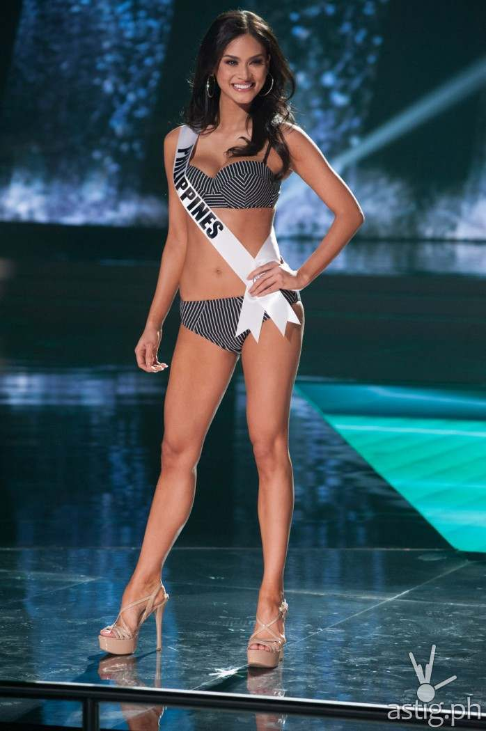 Pia Alonzo Wurtzbach, Miss Philippines 2015 competes on stage in Yamamay swimwear featuring footwear by Chinese Laundry during The 2015 MISS UNIVERSE® Preliminary Show at Planet Hollywood Resort & Casino Wednesday, December 16, 2015. The 2015 Miss Universe contestants are touring, filming, rehearsing and preparing to compete for the DIC Crown in Las Vegas. Tune in to the FOX telecast at 7:00 PM ET live/PT tape-delayed on Sunday, Dec. 20, from Planet Hollywood Resort & Casino in Las Vegas to see who will become Miss Universe 2015. HO/The Miss Universe Organization