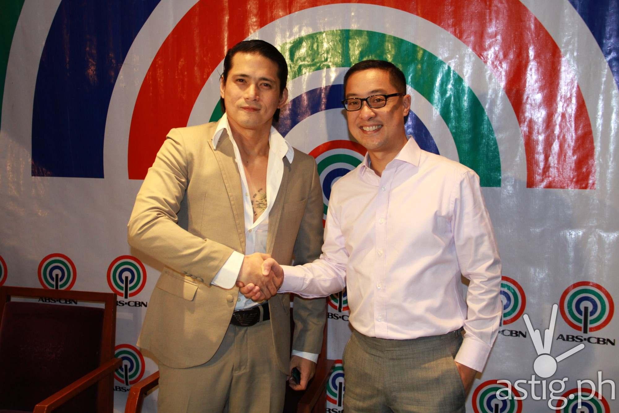 Robin Padilla and ABS-CBN chief operating officer Carlo Katigbak