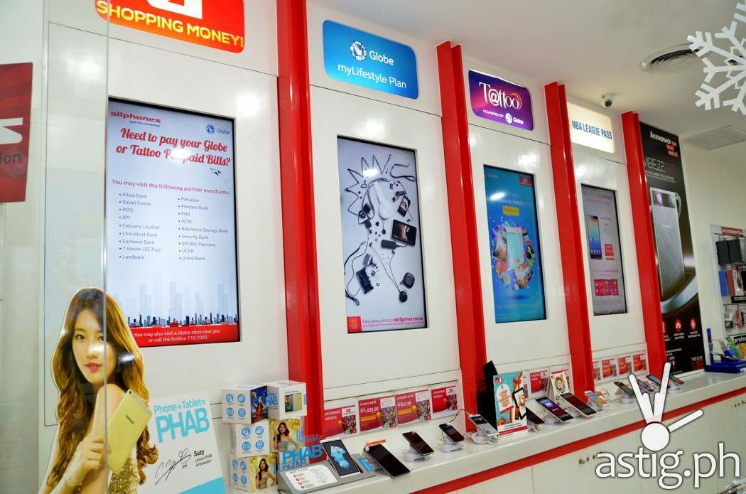 The Allphones store houses a range of devices and digital connectors that customers can choose from to create their own bundle to match their Globe Postpaid plan