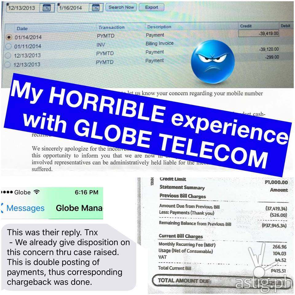 globe telecom horror story