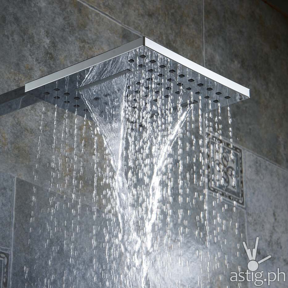 A square metal showerhead that looks just like this landed on my face which would have left me scarred for life