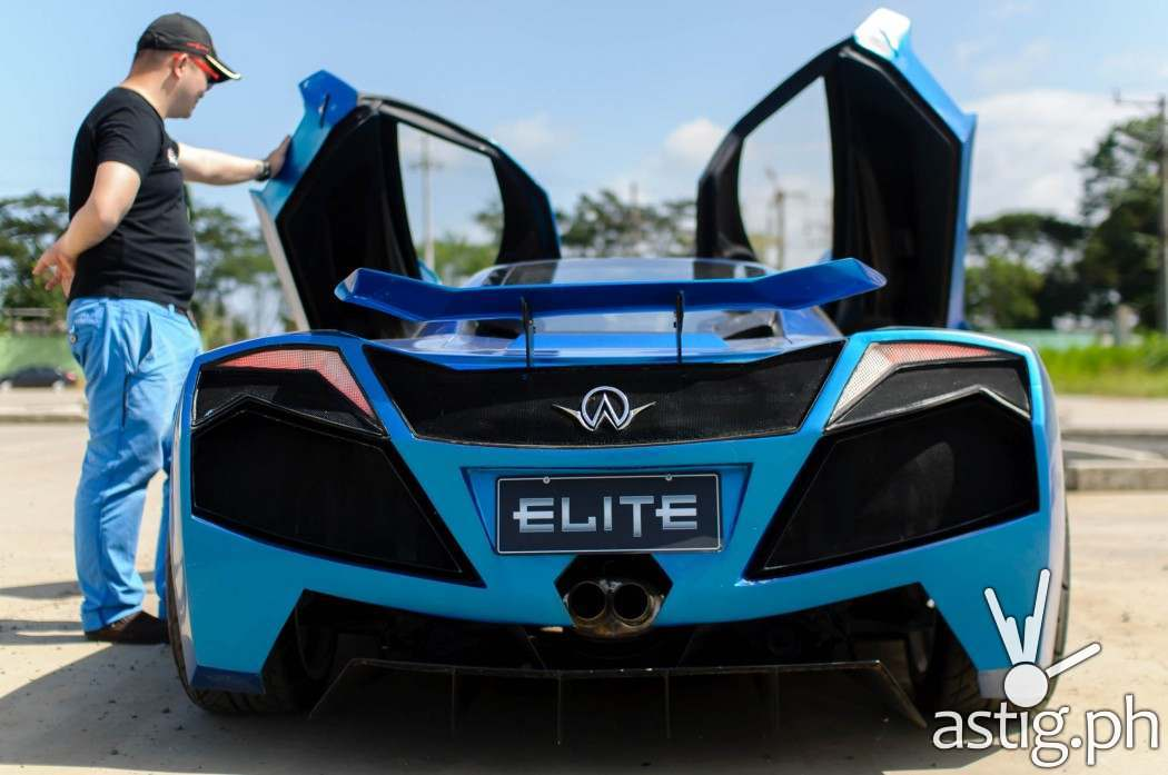 Aurelio super car Prototype 3 rear shot