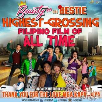 Beauty and the bestie is the highest grossing Filipino film of all time - Star Cinema