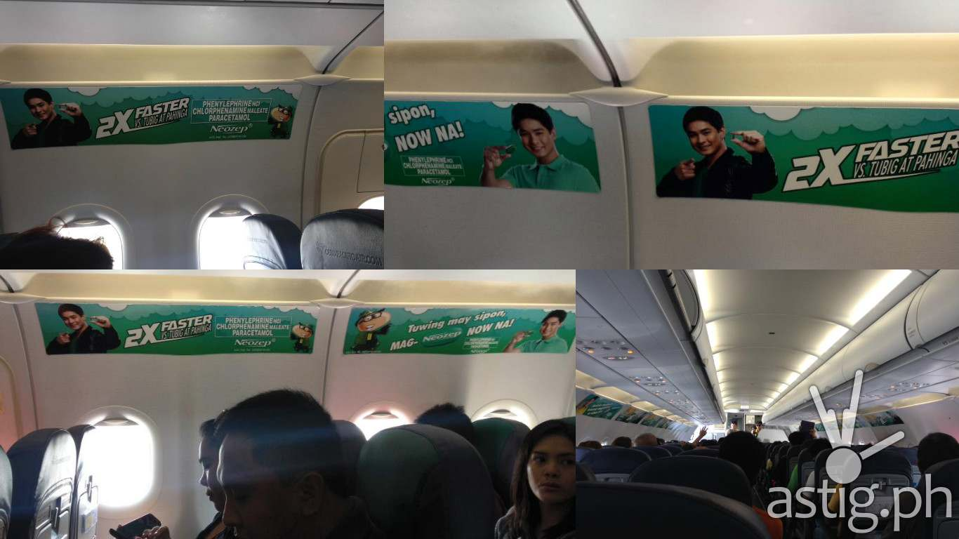 Cebu Pacific airplane advertisement