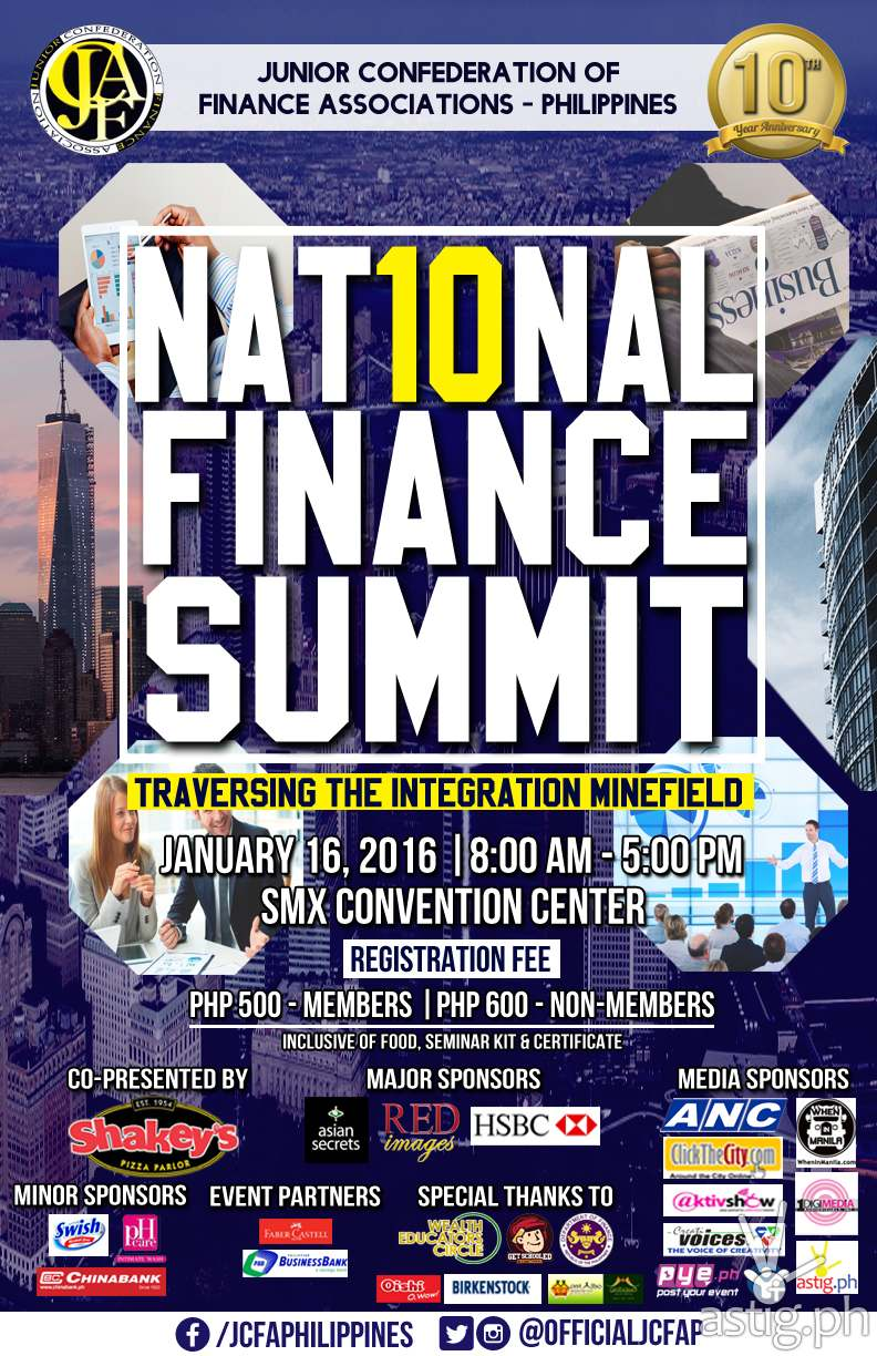 JCFAP National Finance Summit poster