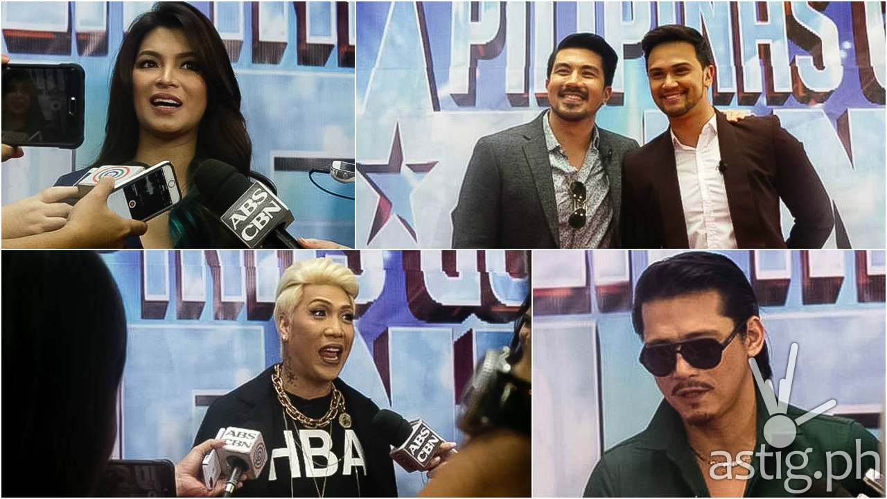 Pilpinas Got Talent judges Vice Ganda, Angel Locsin, Robin Padilla, Lucky Manzano, and Billy Crawford