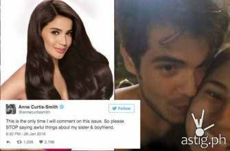 Anne Curtis defends boyfriend Erwan Heussaff, sister Jasmine over kissing scandal