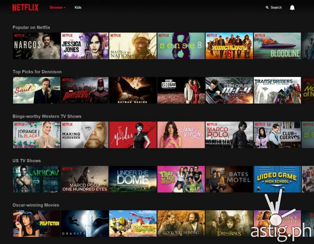 Subscribers in the Philippines will now have access to the latest movies and television series, including Netflix original programs such as Sense8, Jessica Jones, Narcos, and Marvel's Daredevil