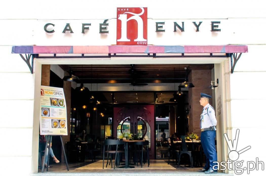 Café Enye is located the Ground Floor of the Excelsior Condominium on Eastwood Avenue, Eastwood City