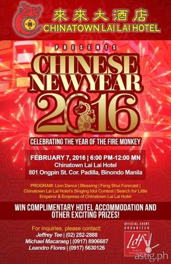 Chinatown Lai Lai Hotel Chinese New Year Promotion
