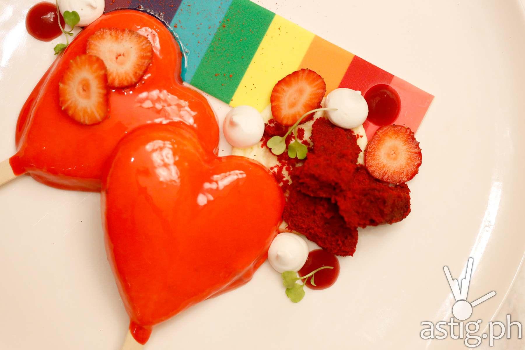 Cru Strawberry Semifreddo at Marriott Hotel Manila