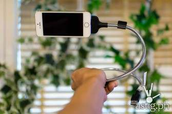 This flexible steel cable from Fuse Chicken is also a dock and a tripod