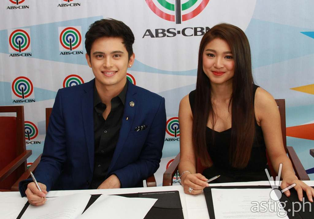 James Reid and Nadine Lustre sign an exclusive contract with ABS-CBN