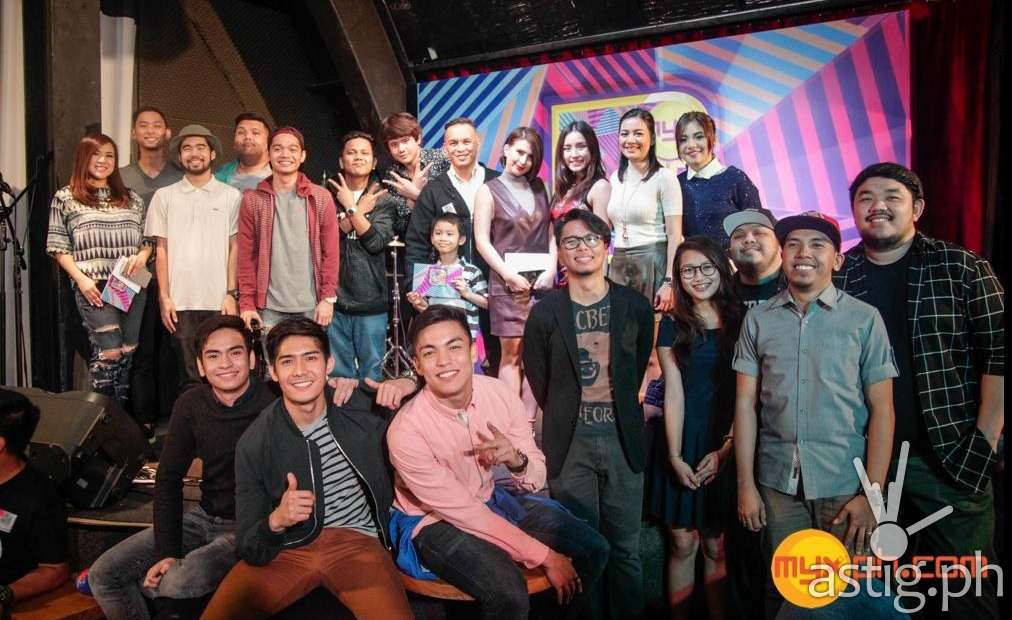 Nominees fwith MYX VJs at the MYX Music Awards nomination night