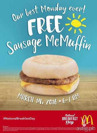 Free McMuffin on March 14 as Filipinos celebrate 4th National Breakfast Day!