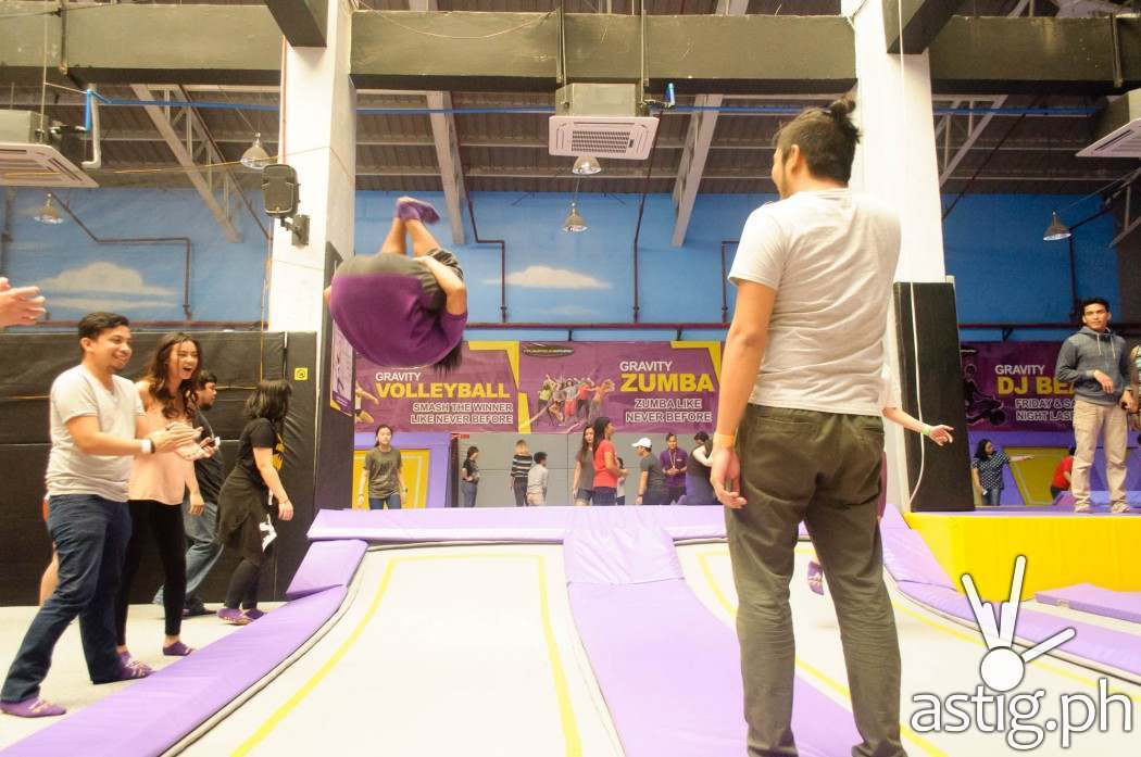 Can you do this? Watch the video for more amazing stunts with the trampoline!