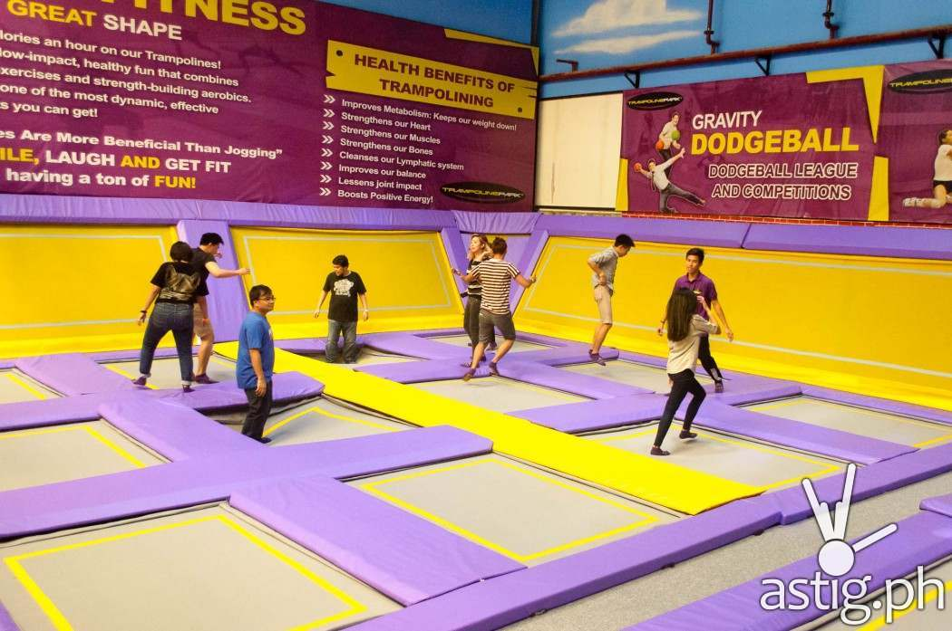 Trampoline is a good bonding experience for couples, families, and friends