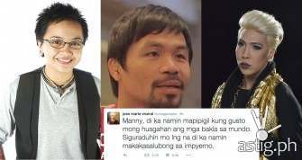 Vice Ganda, Aiza Seguerra & more stars slam Manny Pacquaio's comments on same-sex relationship