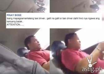 WATCH: Taxi driver gets mad after passenger demanded metered fare, refused to give tip