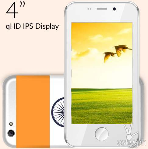 Freedom 251 comes with a 4-inch qHD IPS display