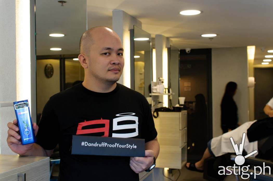 Our resident motor enthusiast Jayson Biadog just got his hair CLEAR-ed away at Bruno's!