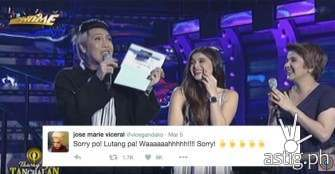 Vice Ganda re-enacts Miss Universe blunder thru announcing a wrong winner in Tawag ng Tanghalan