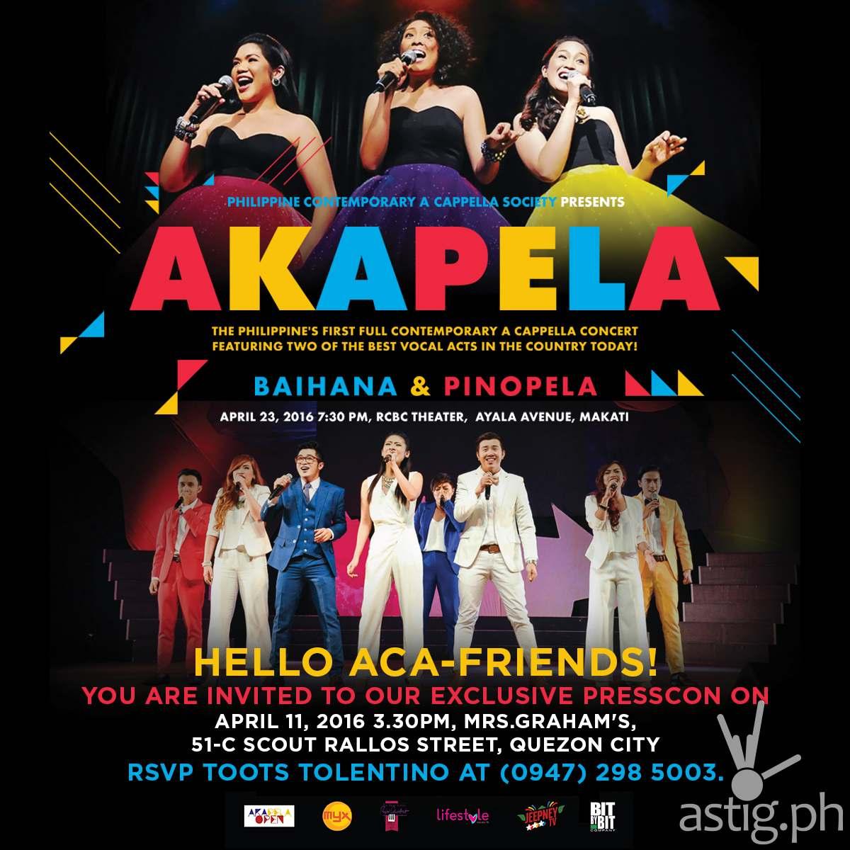AKAPELA - PRESS LAUNCH INVITATION - APRIL 11
