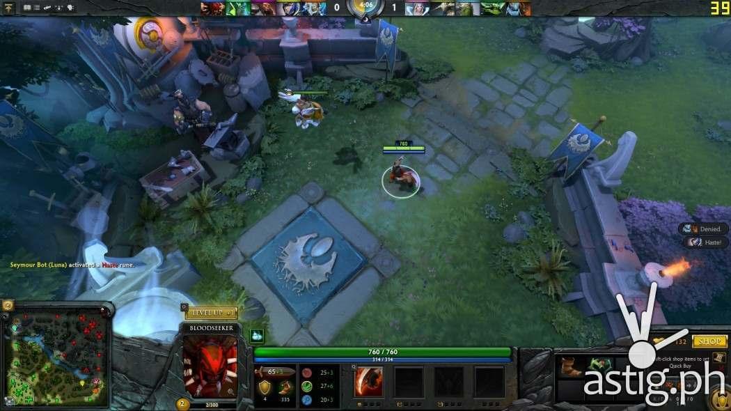 Dota2 screenshot ASUS ViVoBook Flip TP301UJ