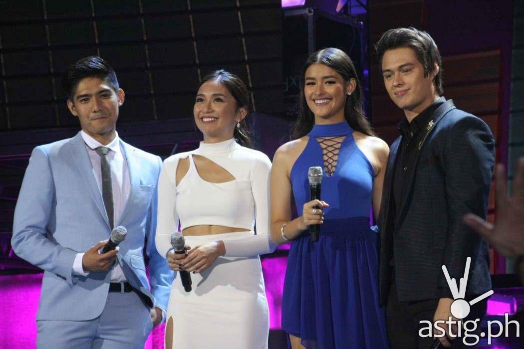 Hosts Robi Domingo, Kathryn Bernardo, Liza Soberano, Enrique Gil