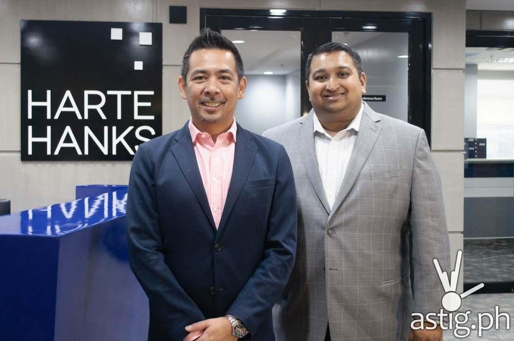 Jonathan Bondoc, Country Manager, Harte Hanks Philippines with Benjamin Chacko, Head of BPO Operations for Harte Hanks