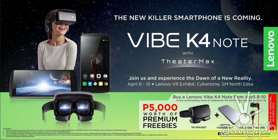 Vibe K4 Note promo announcement