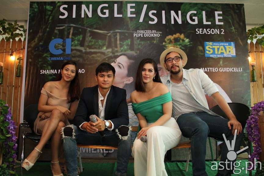 With the cast of Single Single,Anna Luna, Matteo Guidicelli, Shaina Magdayao, and Brian Sy (2)