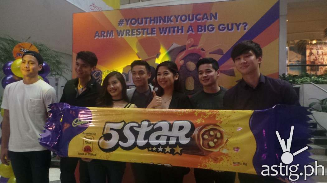 5Star Millenial Ambassadors and Celebrities with Brand Manager, Chocolates, Mondelez Phils Arlene Amante