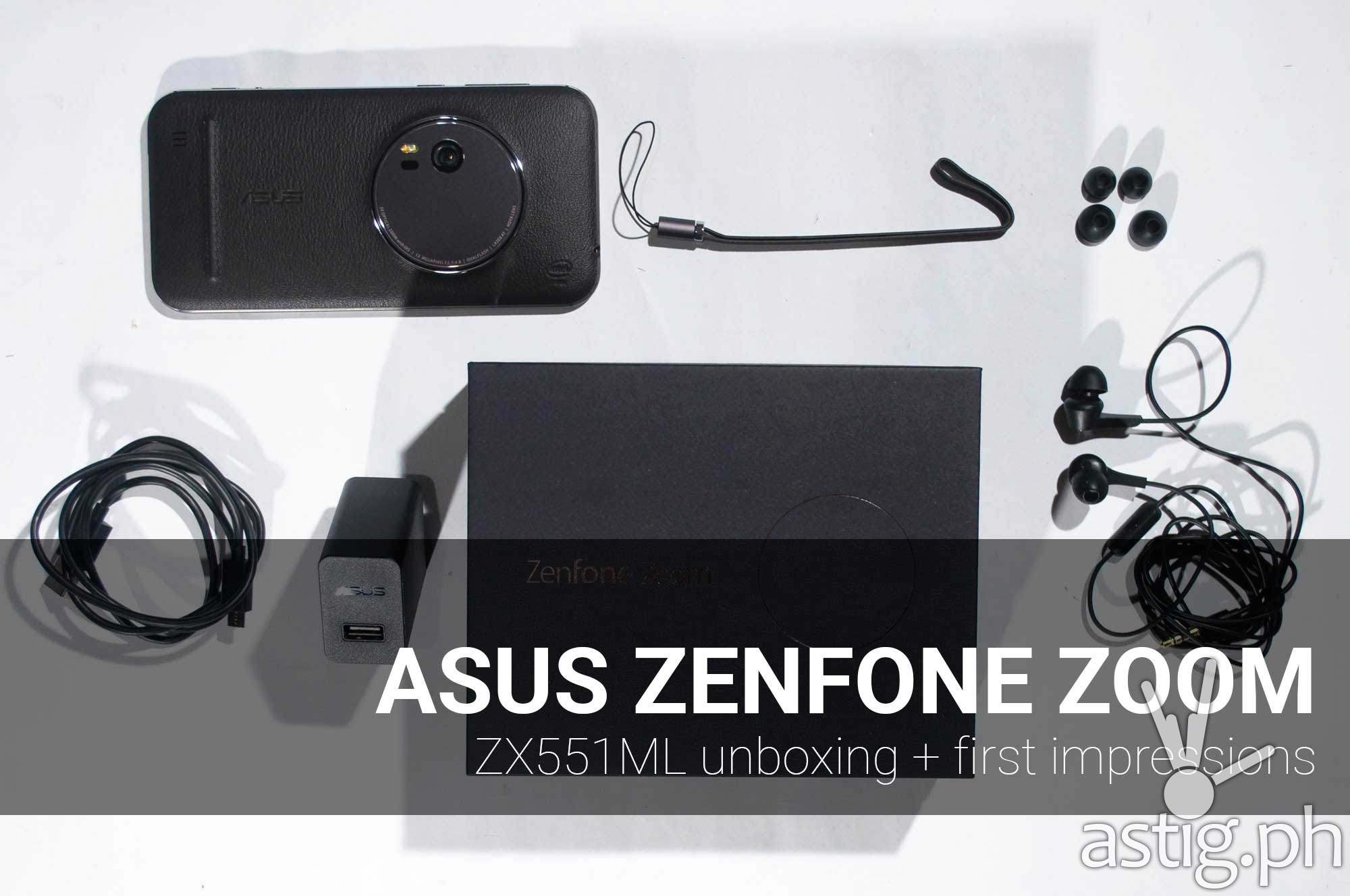 ASUS ZenFone Zoom review unboxing