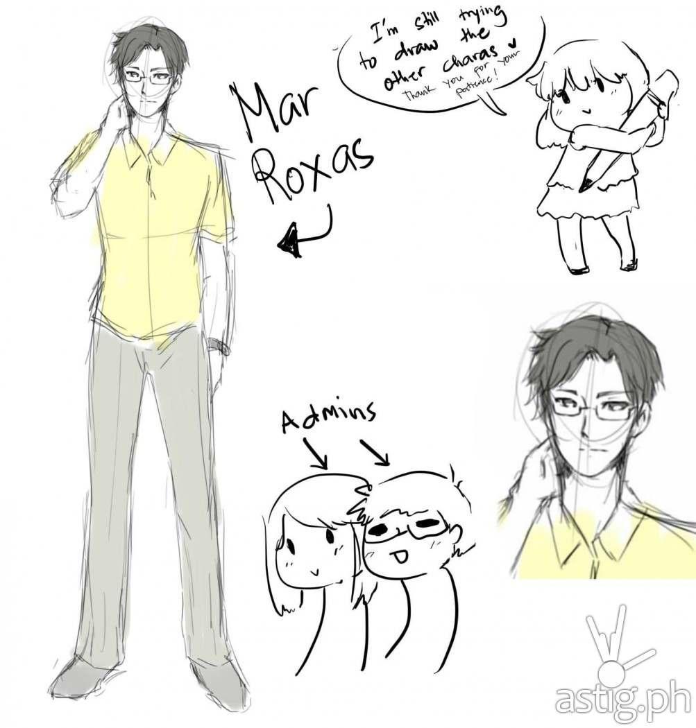 Rodrigo Mar Roxas character design from Duriam Chronicles by Voni Bunbuns