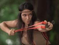 Sarah Lahbati as Tiradora: craziest villain name ever?