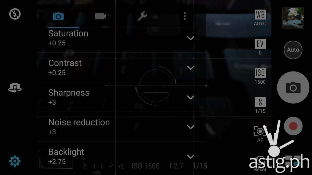 Tweak the default camera settings to suit your taste