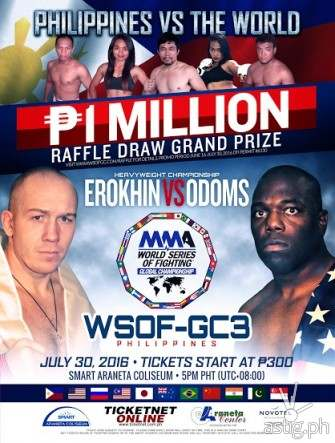 WSOF-GC3 July 30 Bout Gives MMA Fans a Chance to Win PhP1M!