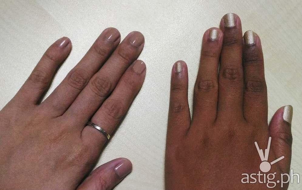 Celebrity Nails Rizal Manicure - Essie polish
