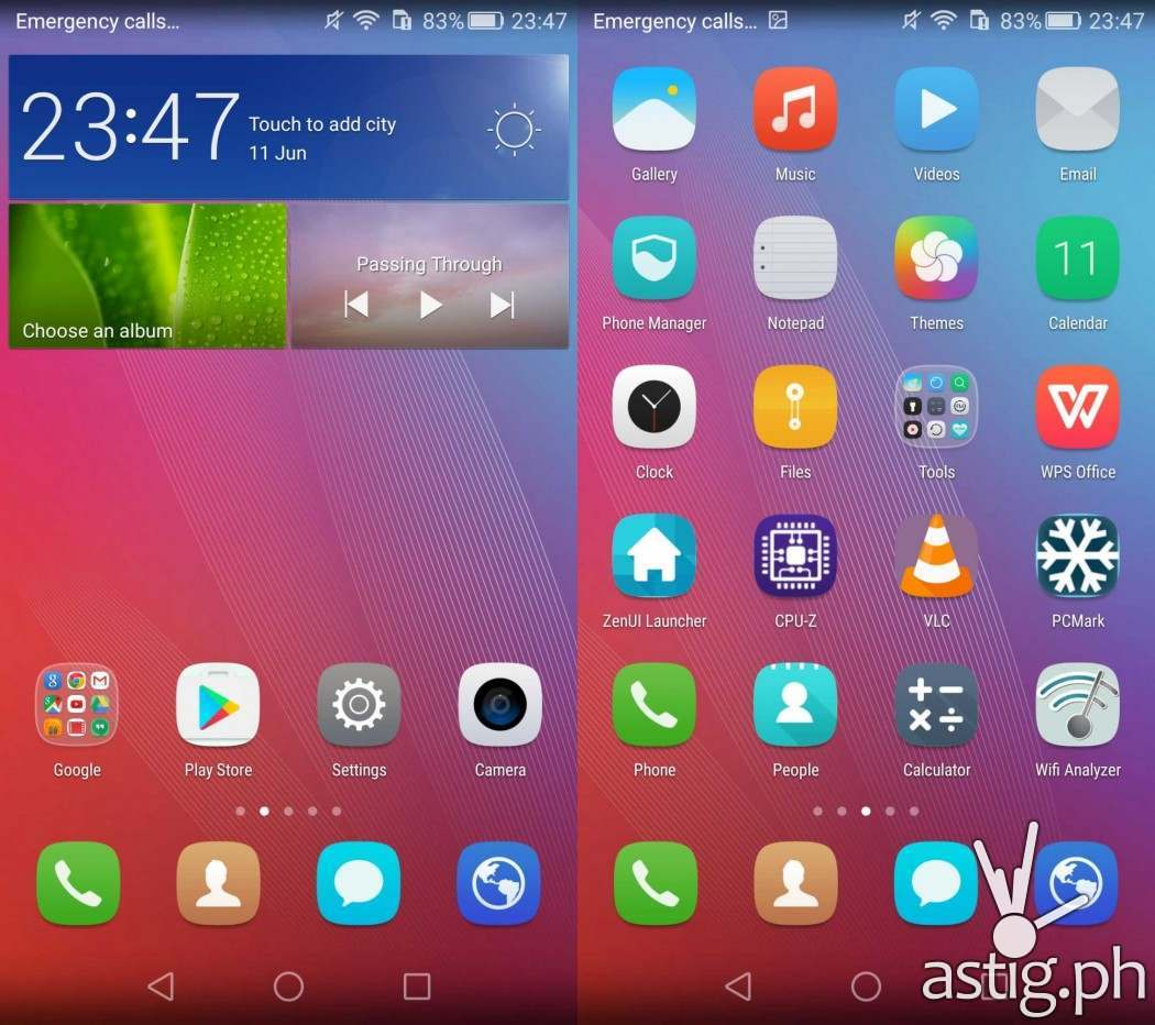 Huawei GR5 EMUI home screen interface